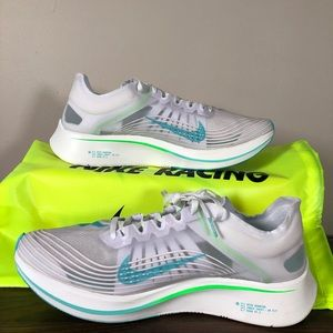 cheaper 531a3 a6237 Nike Shoes - New Nike Zoom Fly SP White Rage Green Size 12.5